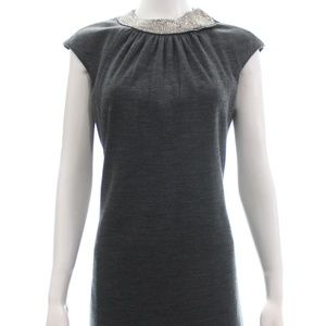 MILLY CHARCOAL WOOL BLEND DRESS SIZE M